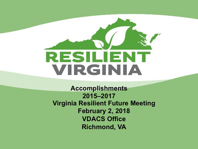 Resilient Virginia Accomplishments