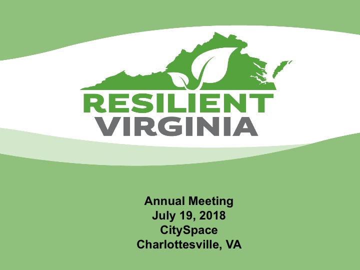 Resilient Virginia Annual Meeting 2018