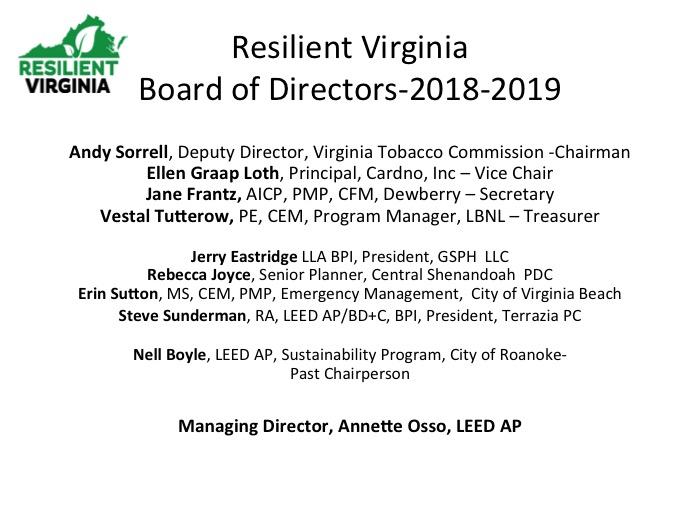 Rural Resiliency Forum 2018 | Resilient Virginia
