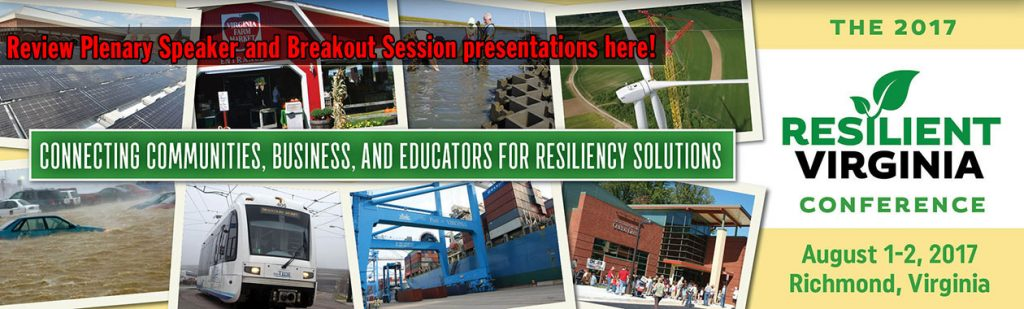 Resilient Virginia Conference 2017 Resources Available