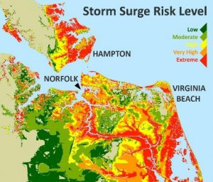 Storm surge map courtesy of chesapeakeclimate.org