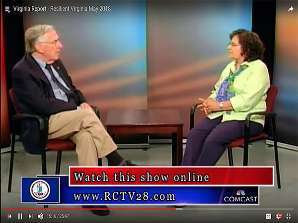 Resiliency Explained: Annette Osso, Managing Director, Resilient Virginia Interviewed by Virginia Delegate Ken Plum
