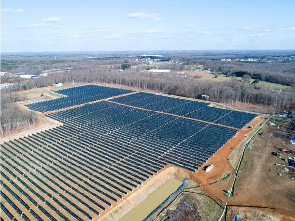 CVEC's 21,700-panel Palmer solar site.