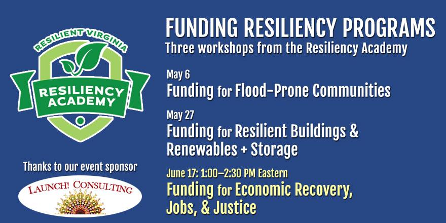 Register Now for Resiliency Academy Webinars!